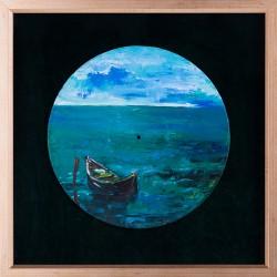 Barca - pictură în ulei pe vinil