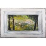 Aluniş - pictură în ulei pe uşa de stejar