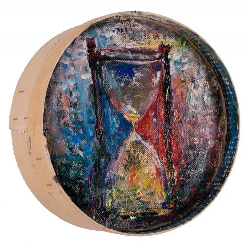 Astăzi - pictură în ulei pe sită