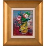 Florile mamei - pictură în ulei pe carton
