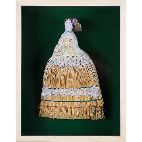 Nunta Zamfirei - obiect pictat în ramă, autor Iurie Cojocaru