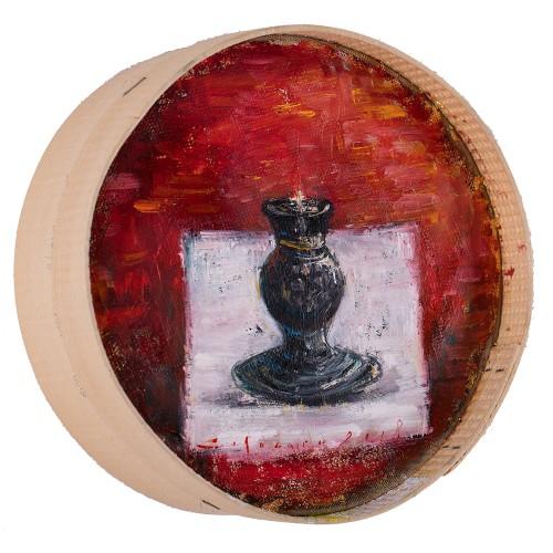 Candelă - pictură în ulei pe sită