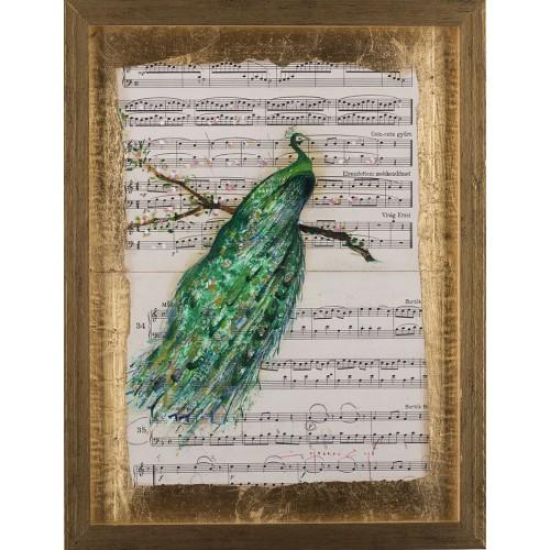 Simfonia frumuseții VI - pictură în ulei pe note muzicale