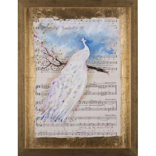 Simfonia frumuseții V - pictură în ulei pe note muzicale