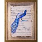 Simfonia frumuseții III - pictură în ulei pe note muzicale