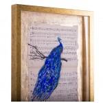 Simfonia frumuseții IV - pictură în ulei pe note muzicale