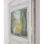 Aluniş II - pictură în ulei pe uşa de stejar