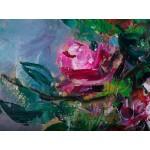Trandafiri - pictură în ulei pe pânză