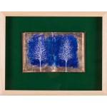 Cartea cu arbori IV - pictură în ulei pe carte
