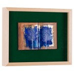 Cartea cu arbori III - pictură în ulei pe carte