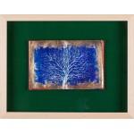 Copacul în alb II - pictură în ulei pe carte