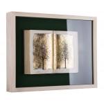 Cartea cu arbori I - pictură în ulei pe carte