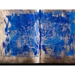 Copacul meu - pictură în ulei pe carte