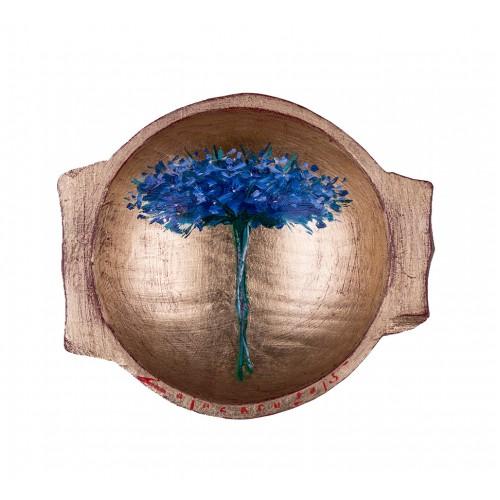 Covată III - pictură în ulei pe covată