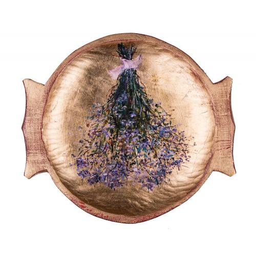 Flori de câmp III - pictură în ulei pe platou
