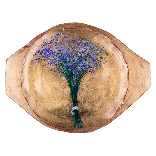 Flori de câmp II - pictură în ulei pe platou