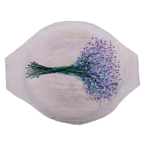 Flori de câmp IV - pictură în ulei pe platou