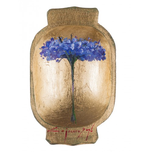 Covată I - pictură în ulei pe covată