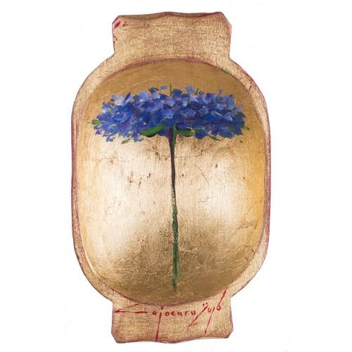 Covată II- pictură în ulei pe covată