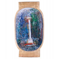 Caracter - pictură în ulei pe covată