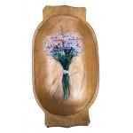 Flori în covată - pictură în ulei pe covată