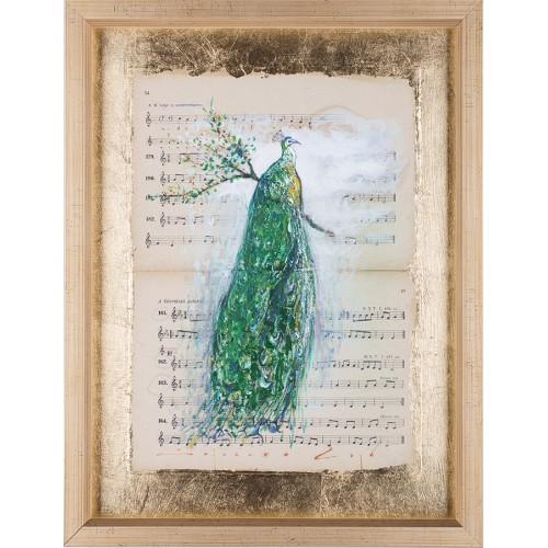 Simfonia frumuseții VII - pictură în ulei pe note muzicale
