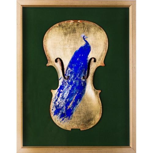 Ultramarin II - pictură în ulei pe vioară