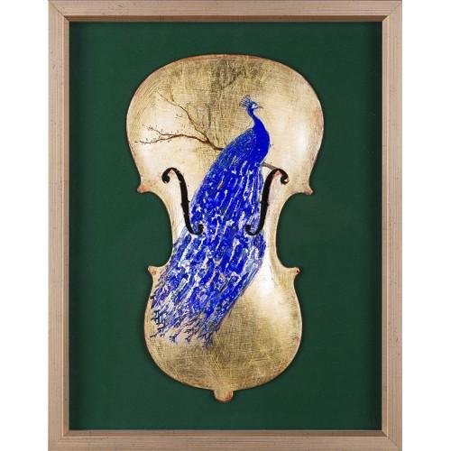 Ultramarin - pictură în ulei pe vioară
